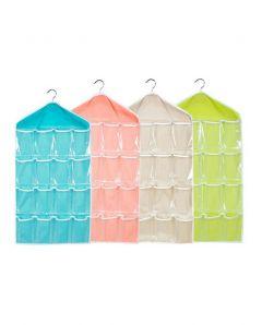 Nilkanth Fashion Wardrobe Mount 16-Grid Bag Hanging Wall Pocket Storage Case (1 Piece) (Multi)