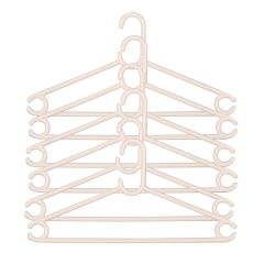 Nilkanth Fashion Plastic Clothes Hanger -Set of 12 Pieces (White & Black)