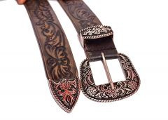 Kashan's Leather Men's Belt for Casual, Party for Men's - Brown