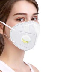 SHOP & SHOPPEE KN95 with Air Filter Anti-Pollution Breathable Respiratory Face Mask (Washable and Reusable, White, 5 )