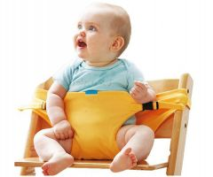Kidsafe Portable Baby Chair Belt for Feeding - Yellow