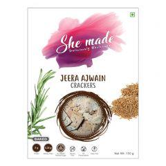 She Made Multi Jeera Ajwain Crackers Pack (Pack Of 2 - 150 gm X 2)