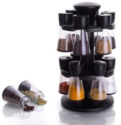 khodiyarfashion Plastic Revolving Spice Racks for Kitchen