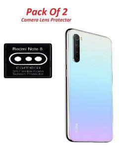 Generic Redmi Mi Note 8 Camera Lens Protector Guard -Fiber(Not Plastic) Black [Pack of 2]