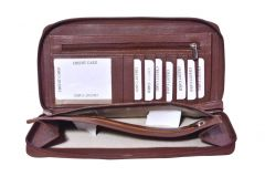 Kashan's Leather Card Holder/Cheque Book Holder/Card Holder/Travel Wallet/Credit Card Holder for Men and Women - Brown