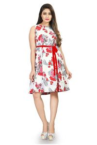 Stylish Fit And Flare Short Dress for Women (Pack of 1)