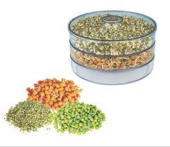 Khodiyarfashion Plastic Sprout Maker - Medium (1.5 Liter) (Color May Vary)