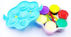 XINGLI Magic Clay with 12 Different Color and 6 Shapes for Kids (Assorted Color)