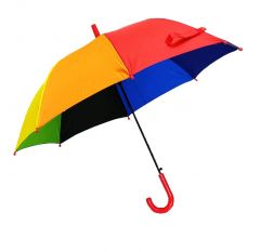 REAL STAR Rainbow Umbrella for Sun UV Protection and Rainy Season for Men, Women and Kids (Pink Handle)
