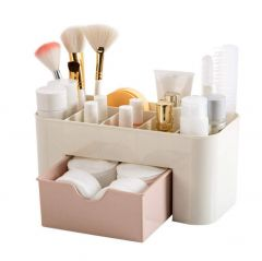 Khodiyarfashion Plastic Cosmetic Storage Box Organizers (Colour May Vary)
