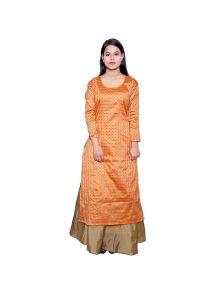 BCZ Style Women Art Silk Kurta With Skirt
