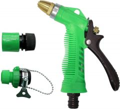 Nilkanth Fashion Plastic Green Spray Gun for Washing Gardening Water (Green)