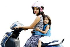 Kidsafe Two Wheeler Child Safety Seat Belt, Cool Blue Eyes