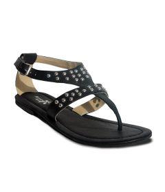 Sakhicollection Casual Wear Flat Sandal For Women Ass1403 (Black)