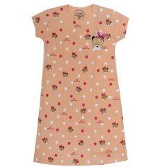 Babydoll Hydes Girls Kids Nighty Nightdress Super Soft Nightwear Cotton Hosiery One Piece Nightie for Girls Age 4 to 12 Years