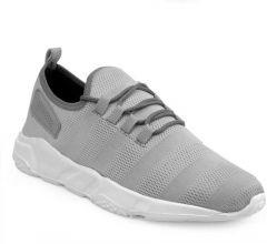 Men's Fashion Cotton & Casual Suitable Solid Shoes Grey