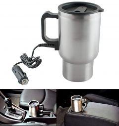 12V Car Charging Electric Kettle Mug (Silver)