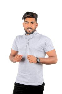 Fashion Gallery T-shirts for Men|Half Sleeve High Neck T-shirts for Men|Men's Cotton T-shirt