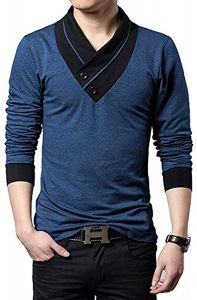 Fashion Gallery Men's Cotton T-shirt | Full Sleeves T-shirts for Men's | V Neck Cotton T-shirts