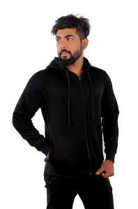 Fashion Gallery Men's Full Sleeves Winter Men's Hooded Jacket - L
