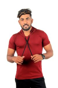 Fashion Gallery Tshirts for Men|V-Hooded Half Sleeve Tshirts|Men's Regular Fit Cotton Tshirt