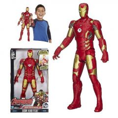 WON Avengers 2 Iron Man 19cms with LED Light on Chest with Hands, Legs Movable (Red)