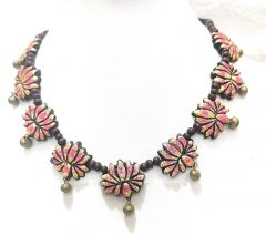 Hydes Classy Terracotta Necklace Set for Girls | Women | Ladies Completely Organic Colors Soft on Skin (071)
