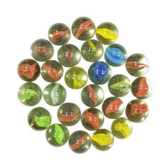 Glass Marbles kanche for Your Kids Use for aquarium and for playing (45 Pieces)
