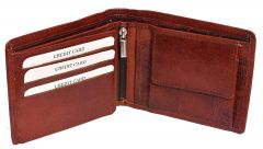 Kashan's Leather Men's Wallet with Hidden Coin Pocket Brown Wallets For Men's Boy's