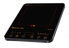 Bajaj Majesty Slim 2100 Watt Induction Cooktop with 8 Auto Cook Indian Menus | Feather Touch Controls | Power Selection to Various kind of Dishes | Pre-Set Timer (Black)