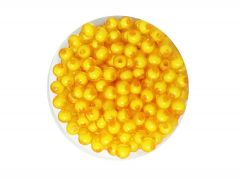 N Creation 200 Gm Dark Yellow Color Plastic Bead Round Shape Beads for Craft Jewelry Embroidery Making for Art and Crafts for Making Diwali Hanging