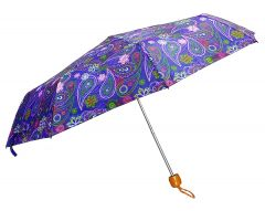 REAL STAR Single Fold Stylish Printed Umbrella for Men and Women, UV Protection for Summers & Rainy Season (Violet)
