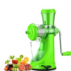 Nilkanth Fashion Hand Juicer for Fruits and Vegetables with Steel Handle Vacuum Locking System (Green)