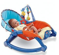 WON New Born-to-Toddler Portable Rocker Bouncer Chair Easy to Take Along