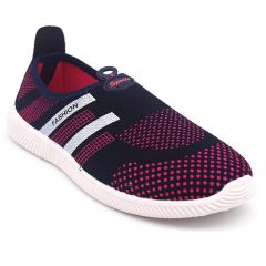 SVAAR Comfortable & Soft Pink Slip on Running, Walking, Sports, Gym Shoes for Women's and Girls