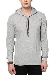 Fashion Gallery Men's Hooded Jacket Full Sleeves|Full Sleeves Hooded Jacket|Jackets for Men (Grey)