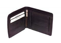 Kashan's Leather Men's Wallet with Coin Pocket Zip, Card Holder - Black