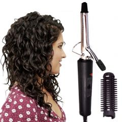 NOVA Anti-Static Stainless Steel Professional Curl Curling Make Hair Curler Curling Iron Rod Waver Maker Styling Tool 15W