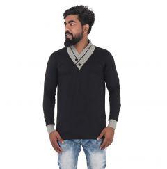 Fashion Gallery Tshirts for Men|Full Sleeves V-Neck Tshirt|Regular Fit Tshirt