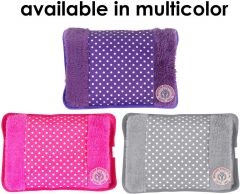 Nilkanth Fashion Velvet Electric Heating Bag for Pain Relief, Heating Bag Electric, Heating Gel Pad-Heat Pouch Hot Water Bottle Bag, Electric Hot Water Bag (Multi)