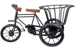 JunctionCraft Cycle Rikshaw with Basket Decorative Showpiece