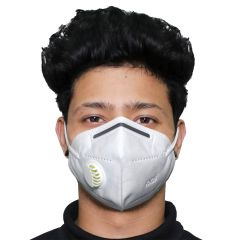 ORILEY Nonwoven Fabric K-N95 FDA Approved 5 Layer Disposable Face Mask with Filter & Nose Pin Respirator for Men & Women (1 pc), White