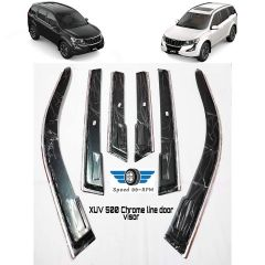 Speed 99 ~ RPM Chrome Linear Guard Door Compatible With Mahindra XUV 500 Set 6