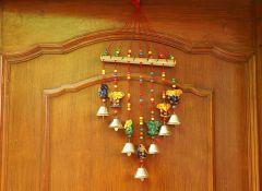 Junction Craft toran/bandarbar/bandarwal for Main Door/Temple Door Ganesha Design 45 cm (Wood Multicolor)