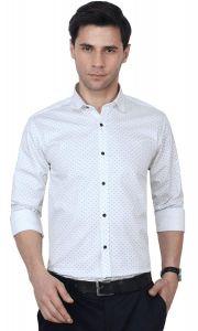 Peppyzone Men's Printed Full Sleeves Formal Shirt (Pack of 1)