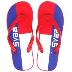 SVAAR Comfortable Red & White Slippers for Men