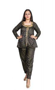 BCZ Style Women Black 3PC Set of Crop Top Jacket & Trouser
