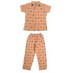 Babydoll - Self Printed Girls Kids Night Suit Super Soft Nightwear Cotton Hosiery Top &  Payjama Set