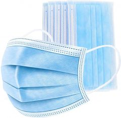 Disposable Face Masks 3-Ply with Comfortable Earloop