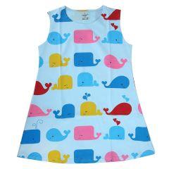 Chocoberry - Self Printed Girls Kids Short Dress Aline Frock Summer Dress Super Soft Dress Cotton Hosiery One Piece
